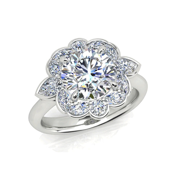 18ct 2.00ct Diamond Floral Cluster
