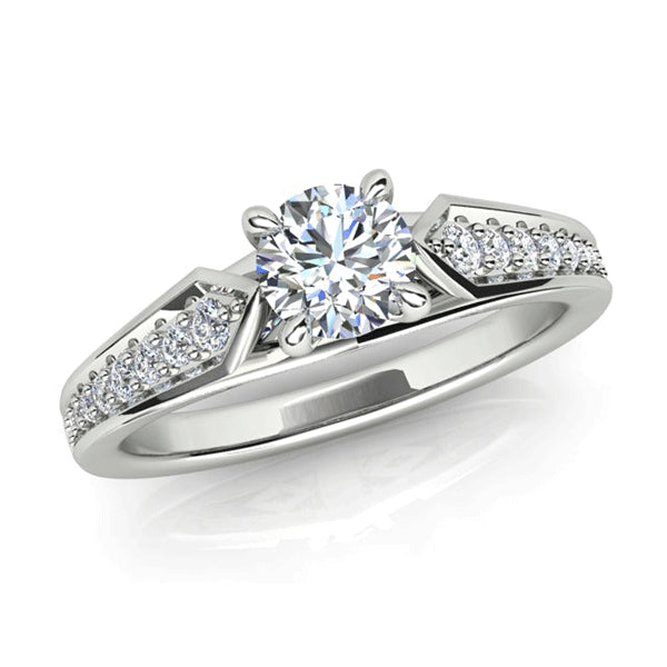 18ct Diamond Vintage-style Accent Ring