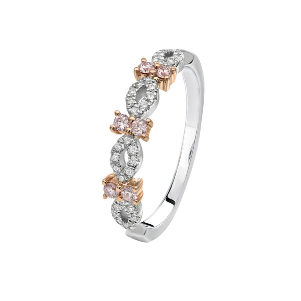 Kimberley Estrella Argyle Pink & White Diamond Ring