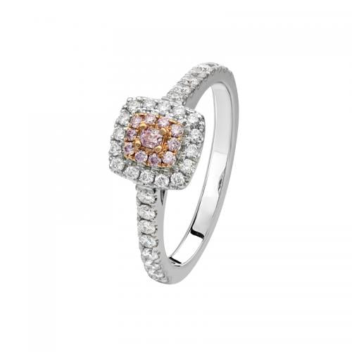 Kimberley Shannara Argyle Pink & White Diamond Ring