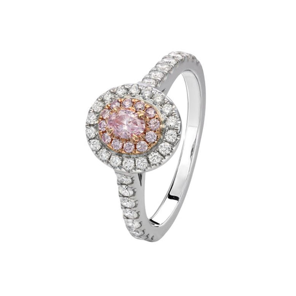 Kimberley Pricilla Argyle Pink & White Diamond Ring