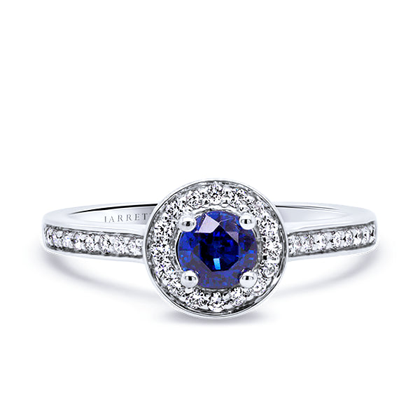 18ct Royal-Blue Sapphire & Diamond Ring