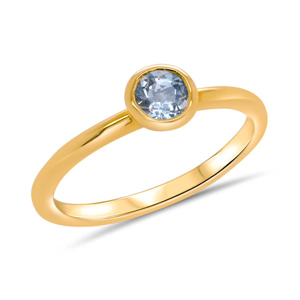 9ct Gold Aquamarine Ring