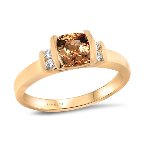 9ct Imperial Topaz & Diamond Ring