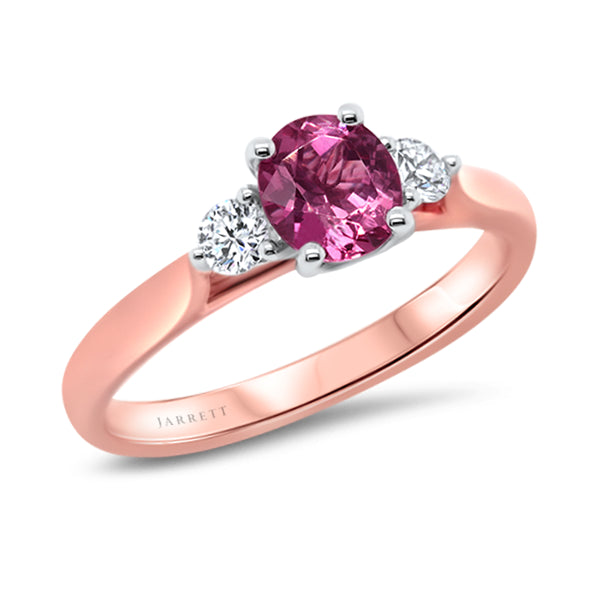 9ct Natural Pink Spinel & Diamond Ring