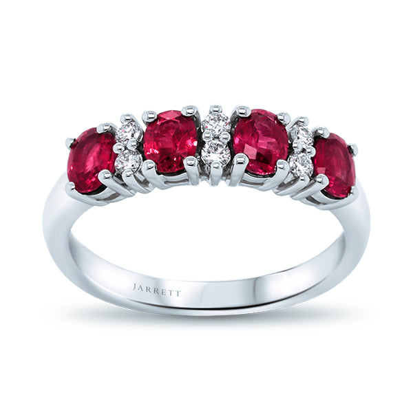 18ct Natural AAA-Grade Ruby & Diamond Ring