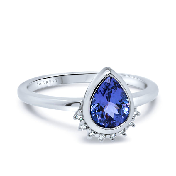 9ct Tanzanite & Diamond Ring