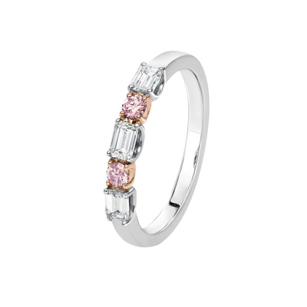 Kimberley Harriet Argyle Pink & White Diamond Band