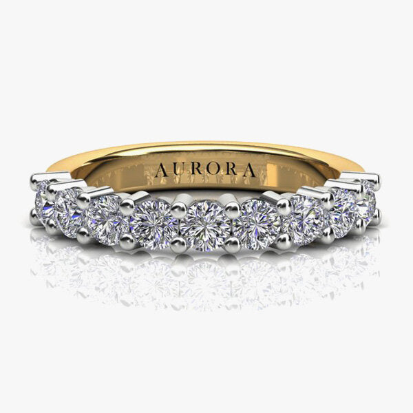18ct Aurora®-Cut 1.00ct Diamond Band