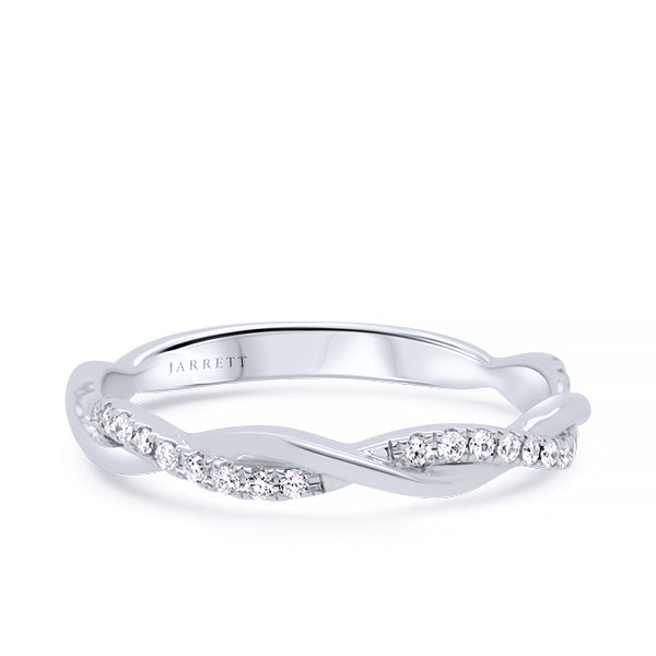 18ct 22-Diamond Twisted-Vine Band