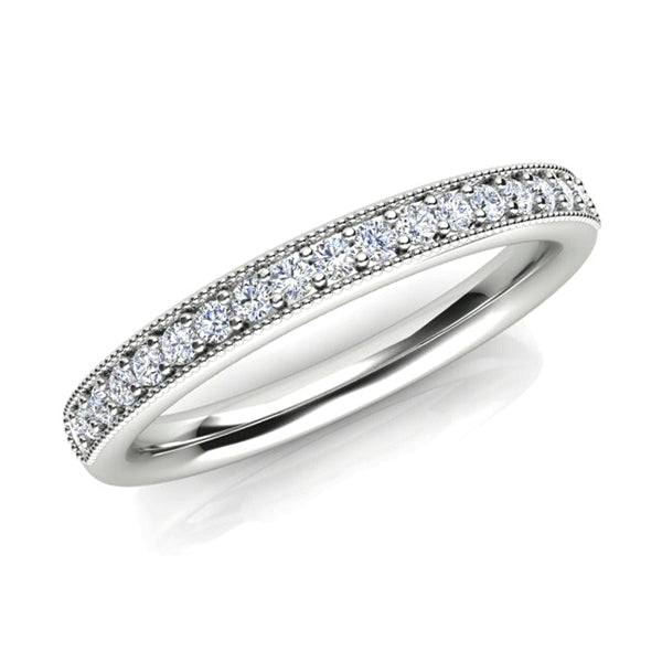 18ct Vintage-Inspired Diamond Wedding Band