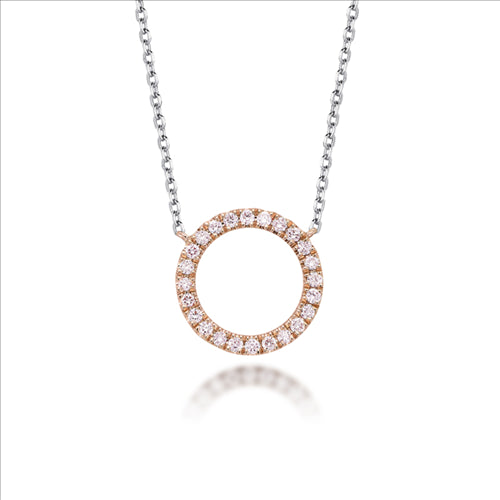 Blush Pink Diamond Circle of Life Necklace