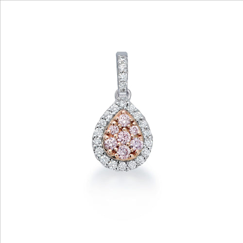 Blush Penelope Argyle Pink & White Diamond Pendant