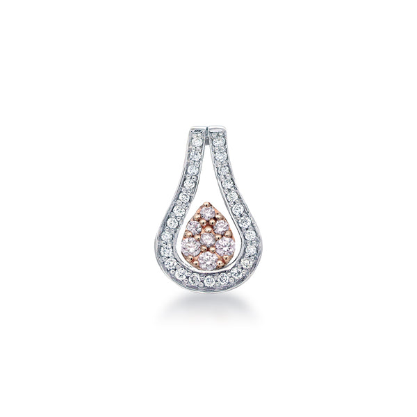 Blush Flame Argyle Pink & White Diamond Pendant