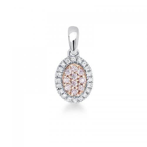 Blush Lea Argyle Pink & White Diamond Pendant