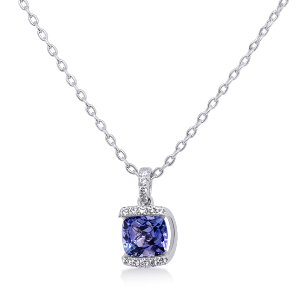 9ct Tanzanite & Diamond Pendant
