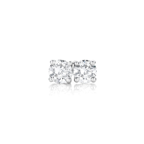 18ct Claw-Set 0.05ct Diamond Solitaire Studs.