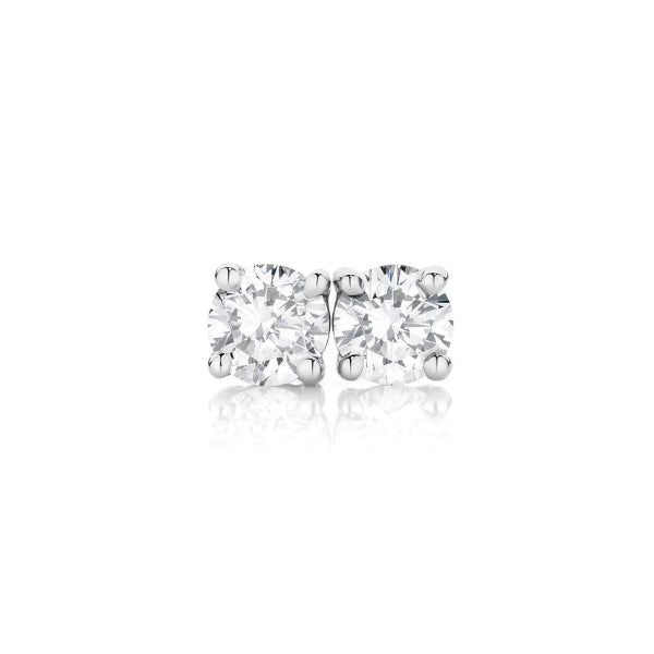 18ct 0.10ct Diamond Solitaire Claw-Set Studs