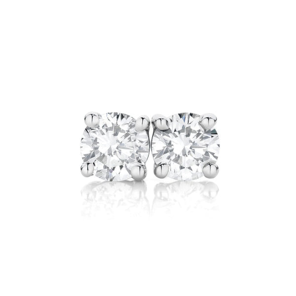 18ct Claw-Set 0.40ct Diamond Solitaire Studs