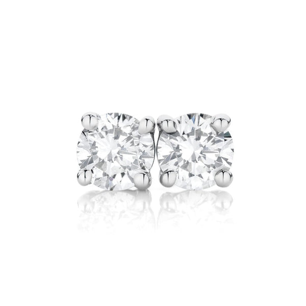 18ct Claw-Set 0.50ct Diamond Solitaire Studs