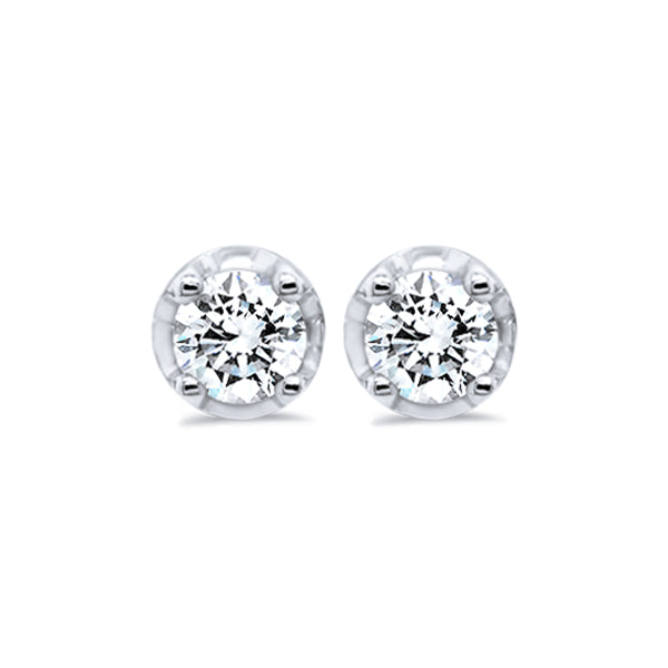 9ct Claw-Set 0.50ct Diamond Solitaire Studs