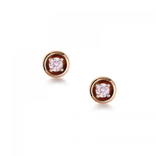 Blush Ophelia Argyle Pink Diamond Earrings