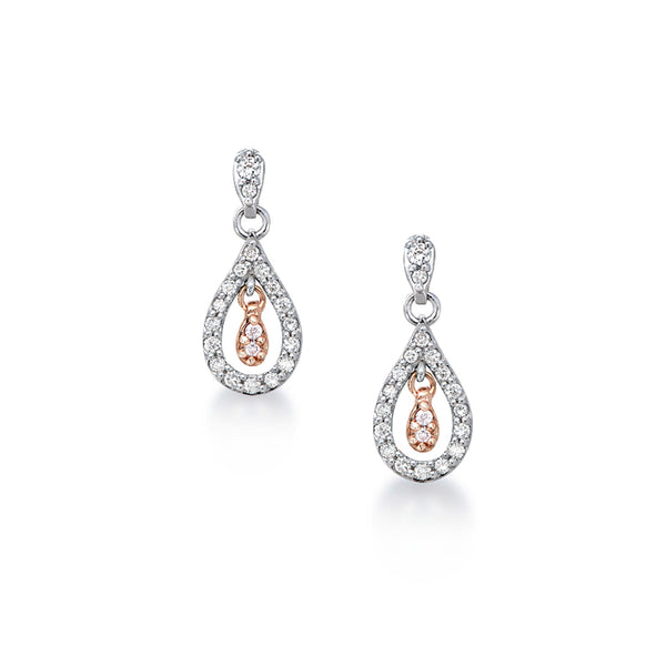 Blush Pink Diamond Earrings