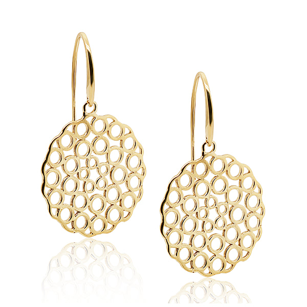 9ct Polka Dot Drop Earring