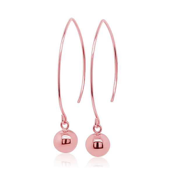 9ct Hand-Polished 8mm Ball Earrings