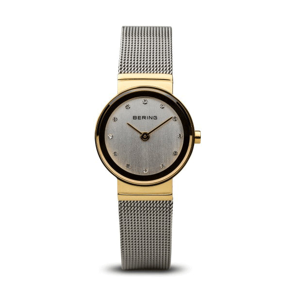 BERING 26mm Classic Gold/Silver Watch