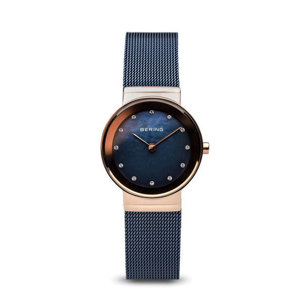 BERING 26mm Classic Rose/Blue Watch