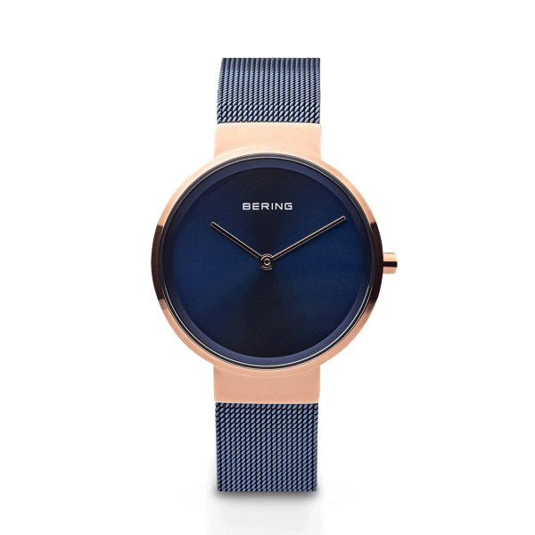 BERING 31mm Classic Rose/Blue Watch