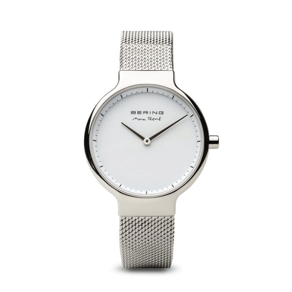 Max Rene for BERING 31mm Polished Silver Watch