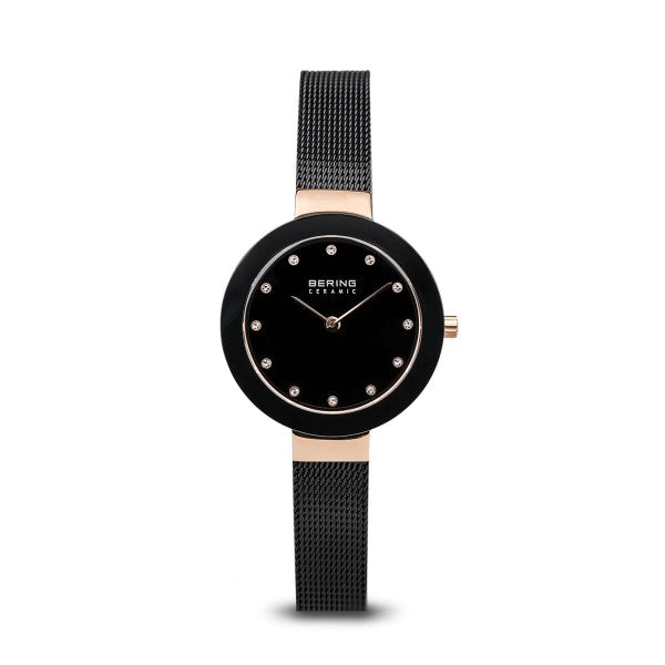 BERING 29mm Ceramic Rose/Black Watch