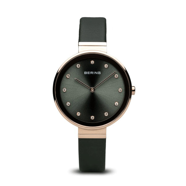 BERING 34mm Classic Rose/Green Watch