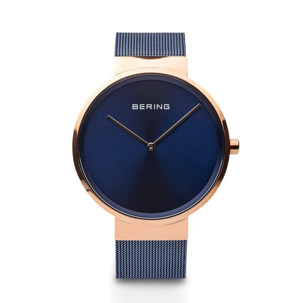 BERING 39mm Classic Rose/Blue Watch