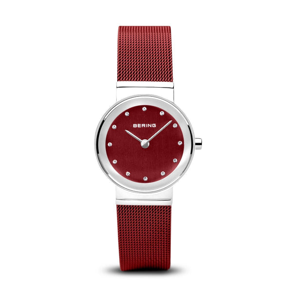 BERING 26mm Classic Silver/Red Watch