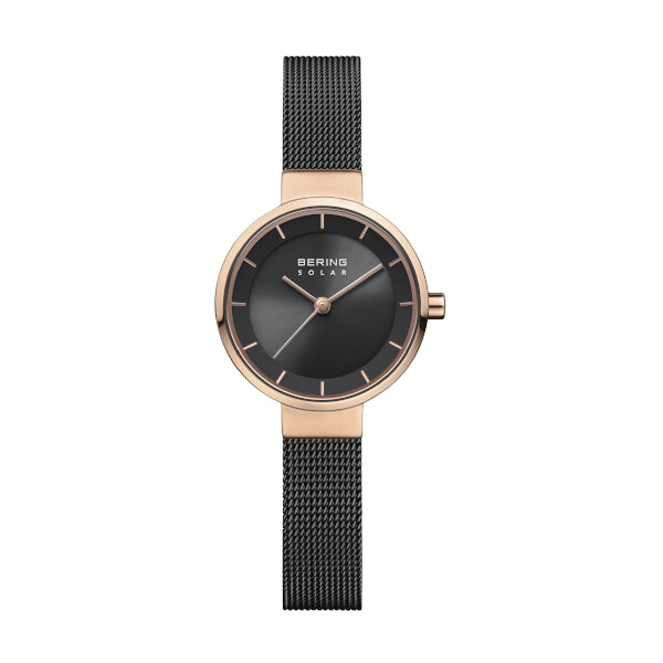 BERING 27mm Solar Rose/Black Watch
