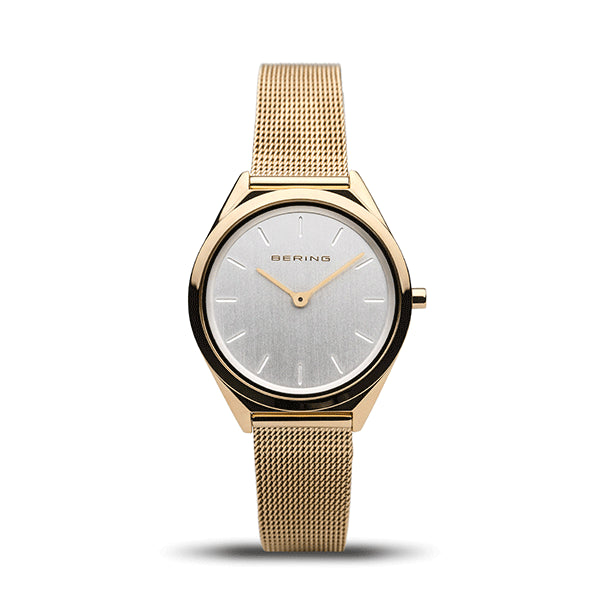 BERING 31mm Ultra Slim Polished Gold Watch