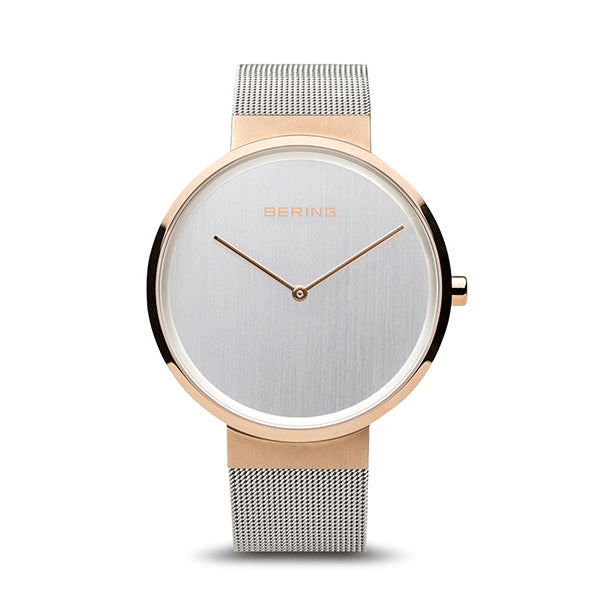BERING 39mm Classic Rose/Steel Watch