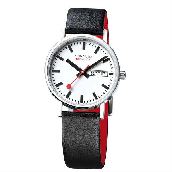 Mondaine 36mm Classic Day-Date Watch