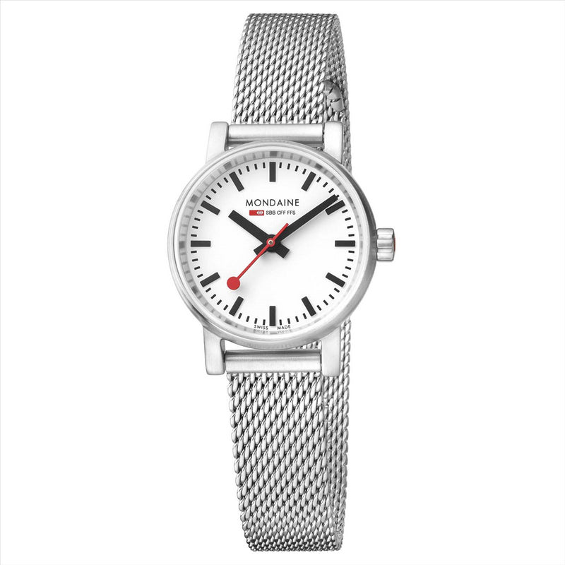 Mondaine 26mm EVO2 Watch with Mesh Bracelet