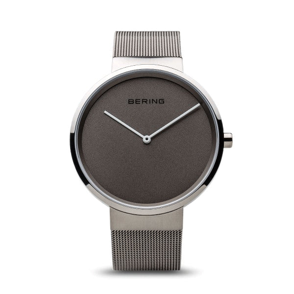 BERING 39mm Classic Silver/Grey Watch