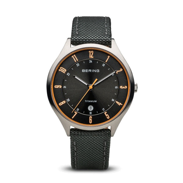 BERING 39mm Silver/Grey Titanium Watch