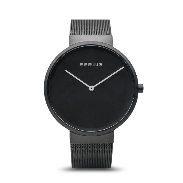 BERING 39mm Classic Black on Black Watch