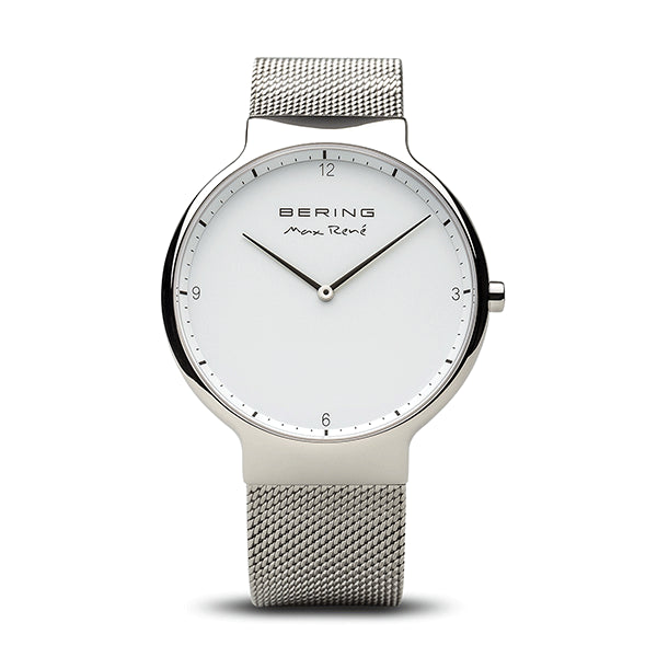 Max Rene for BERING 40mm Polished Silver Watch