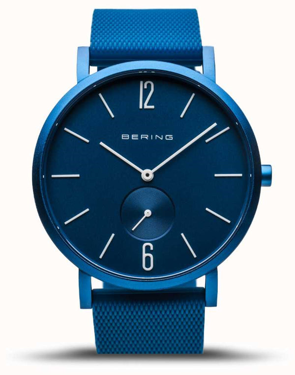 BERING 40mm True Aurora Vivid Blue Watch