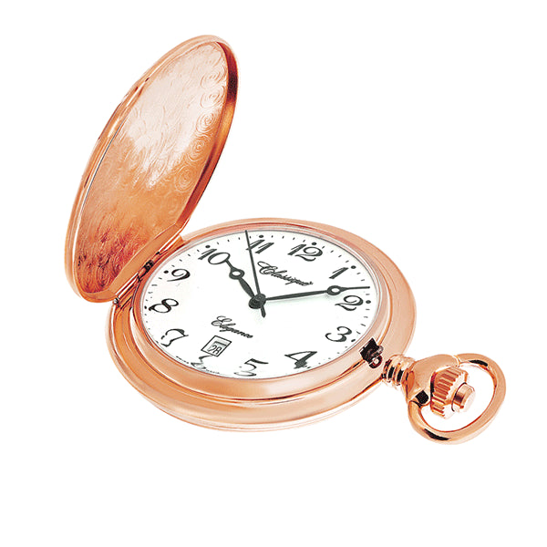 CLASSIQUE Rose Gold-Plated Swiss Quartz Pocketwatch