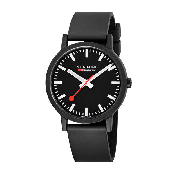 Mondaine 41mm Black Essence Watch