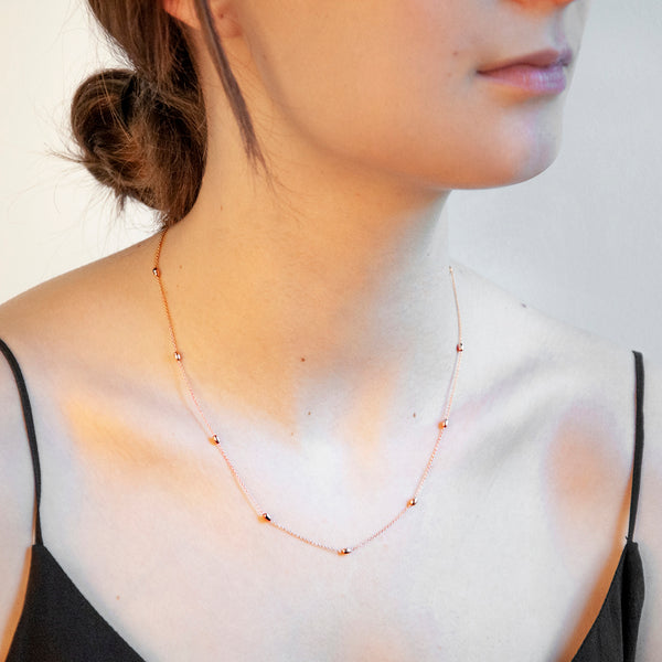 NAJO Like a Breeze Necklace - Rose 45cm